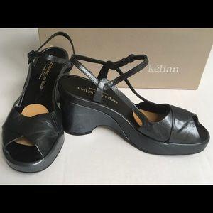 Stephane Kelian Colana Black Platform Sandals 8.5